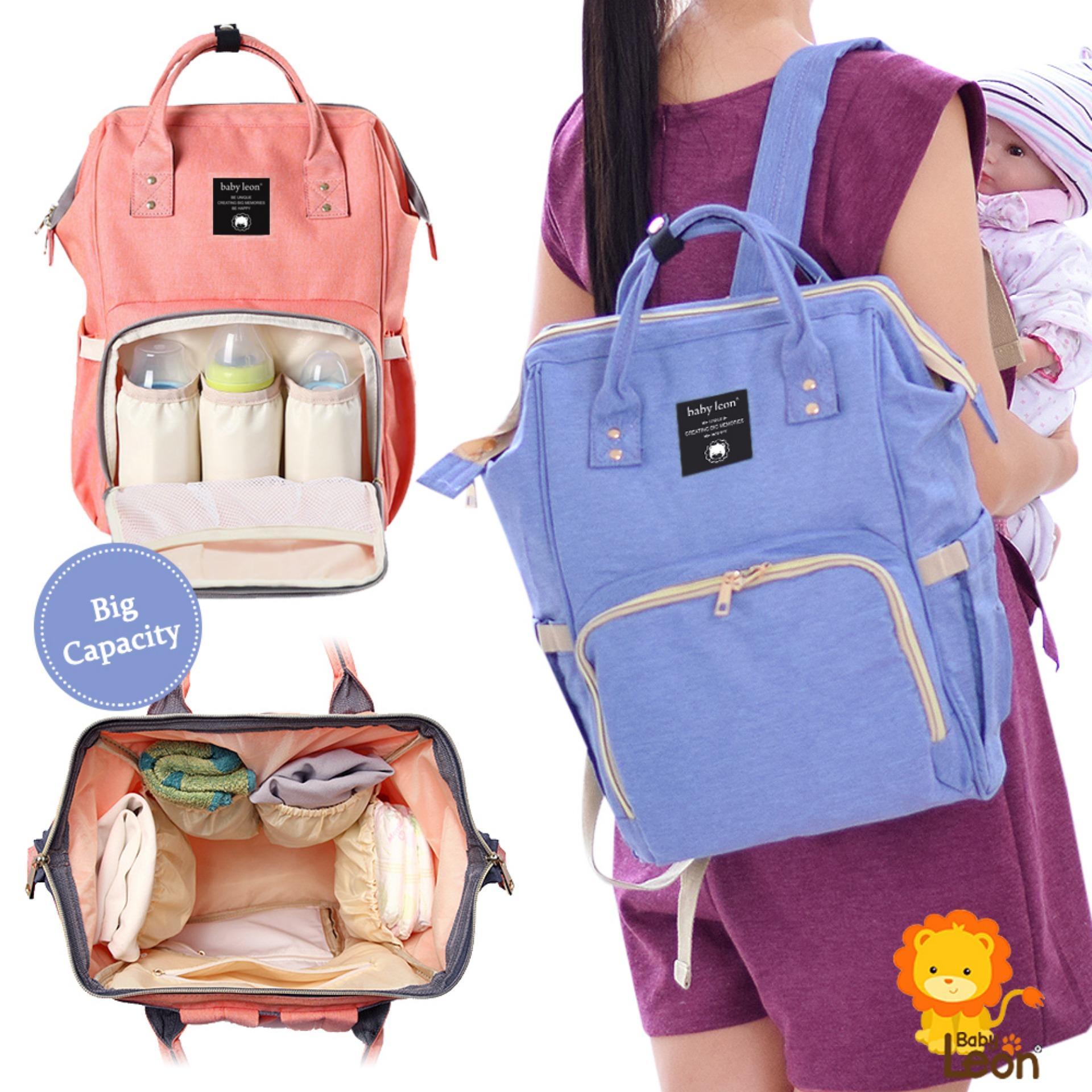 Tas bayi Backpack BABYLEON / Tas Perlengkapan Baby / Ransel / Tas Popok / Diaper Bag FS HS-899 - Blue