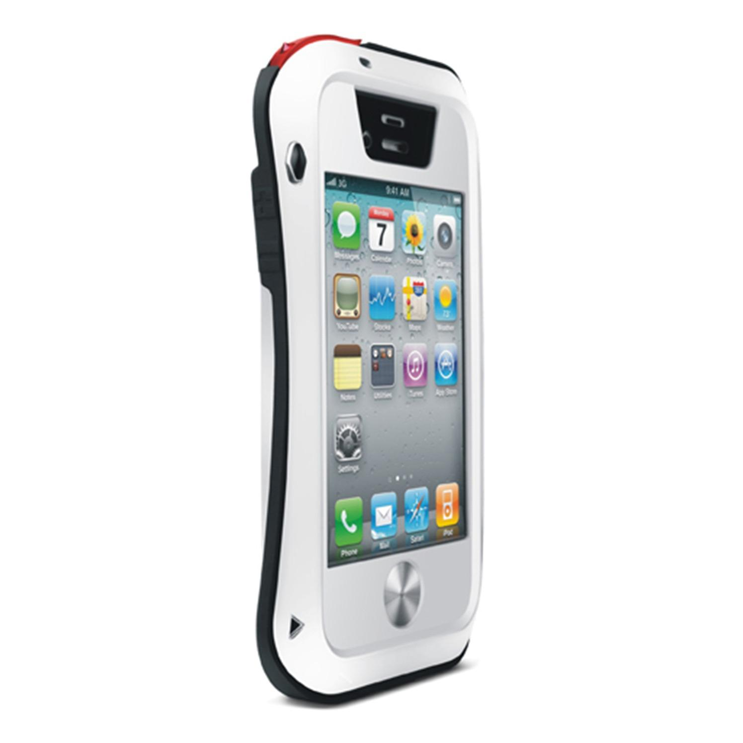 promo Love Mei Lunatik Aluminium Metal Bumper Iphone 4/4s - White original