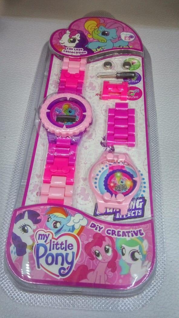 Jam Tangan Anak perempuan Lego Bisa Bongkar Pasang Model Kuda Poni