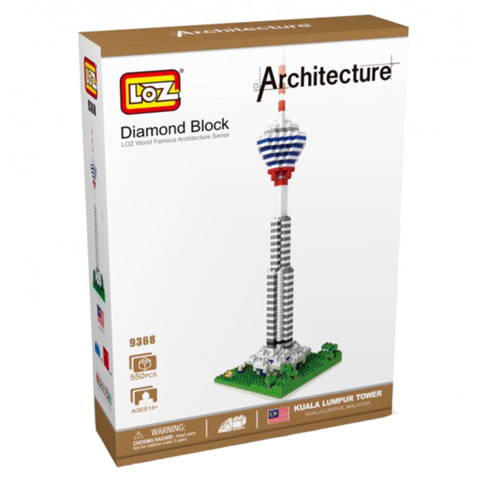 Architecture Kuala Lumpur Tower - Original Lego LOZ Diamond Block Mainan Edukasi