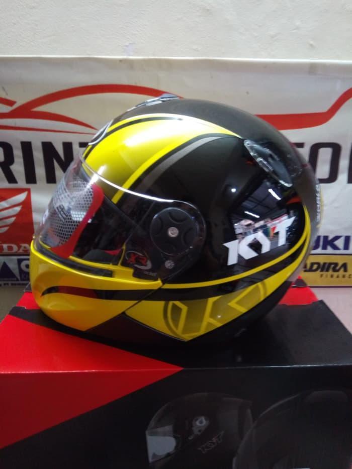 Helm KYT x ROCKET World Class Helmet BLACK YELLOW