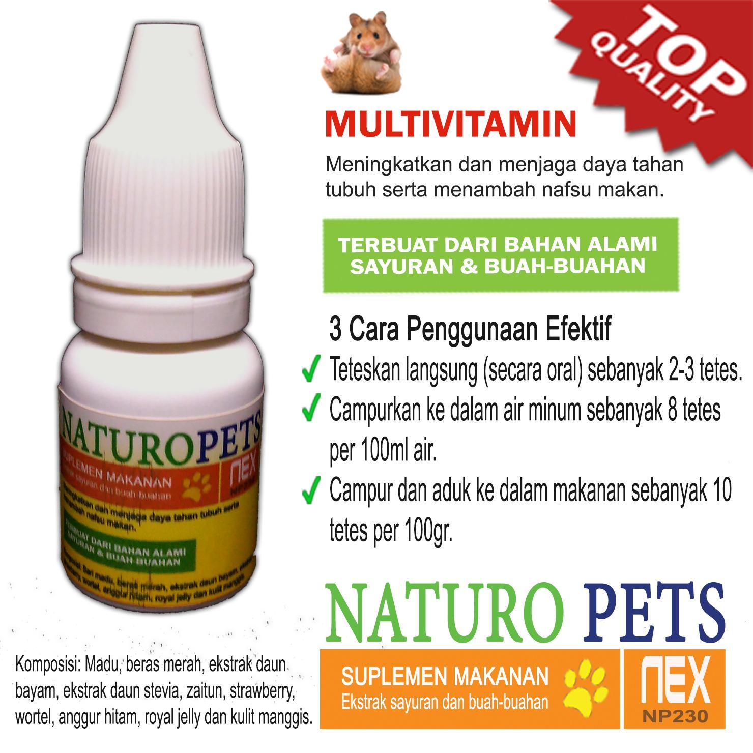Naturo Pets Multi Vitamin Suplemen Makanan Hamster Guinea Pig Kelinci