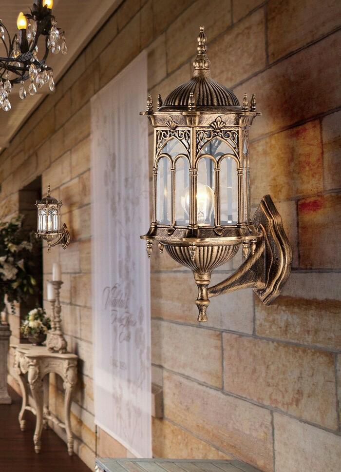 L1056 lampu dinding taman waterproof pilar pagar wall e27 model mesjid
