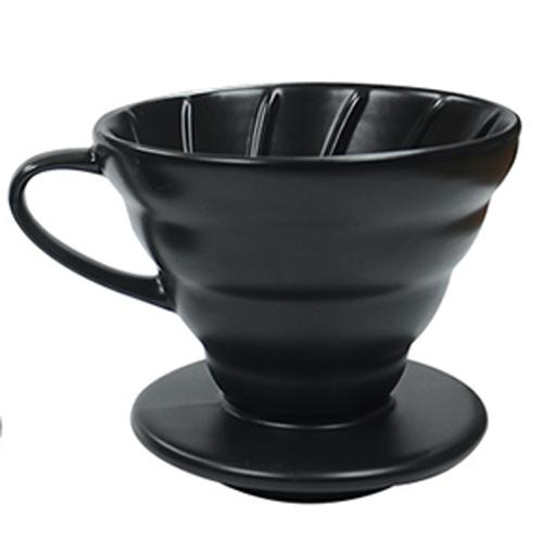 VDC-01B-C | V60 Ceramic 01 BLACK Manual Brew Dripper Pour Over