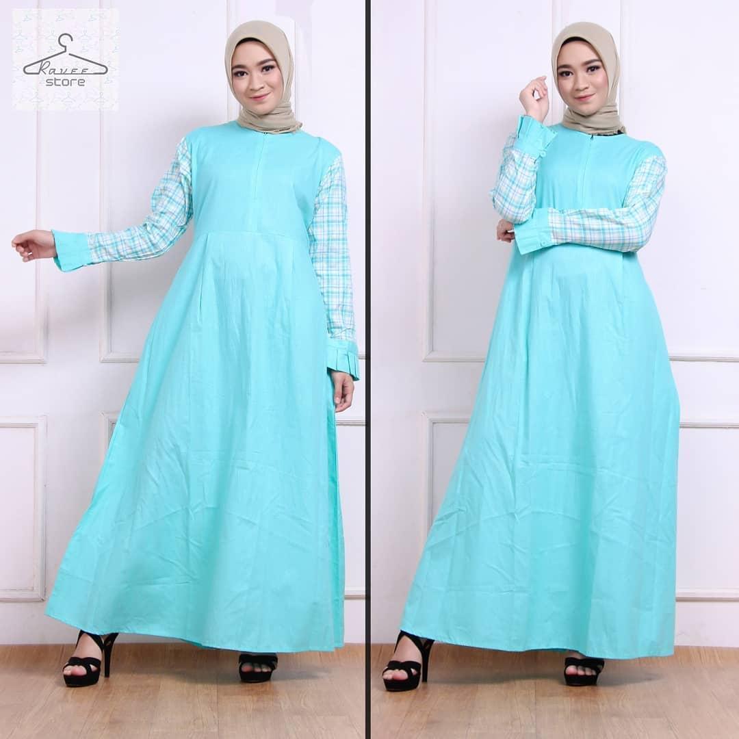 Baju Muslim Original Gamis Samira Dress Katun Ima Mix Acrilik Muslim Panjang Dress Casual Wanita Pakaian Hijab Modern Baju Gamis Modis Trendy Gaun Terbaru