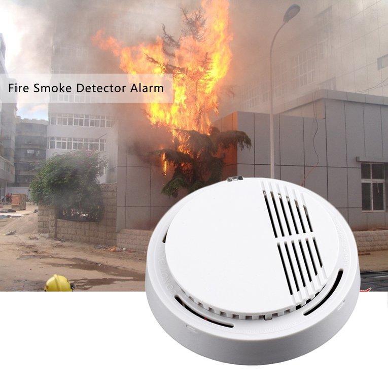 Fire Smoke Sensor Detector Alarm Tester Cordless Home Family Guard Security