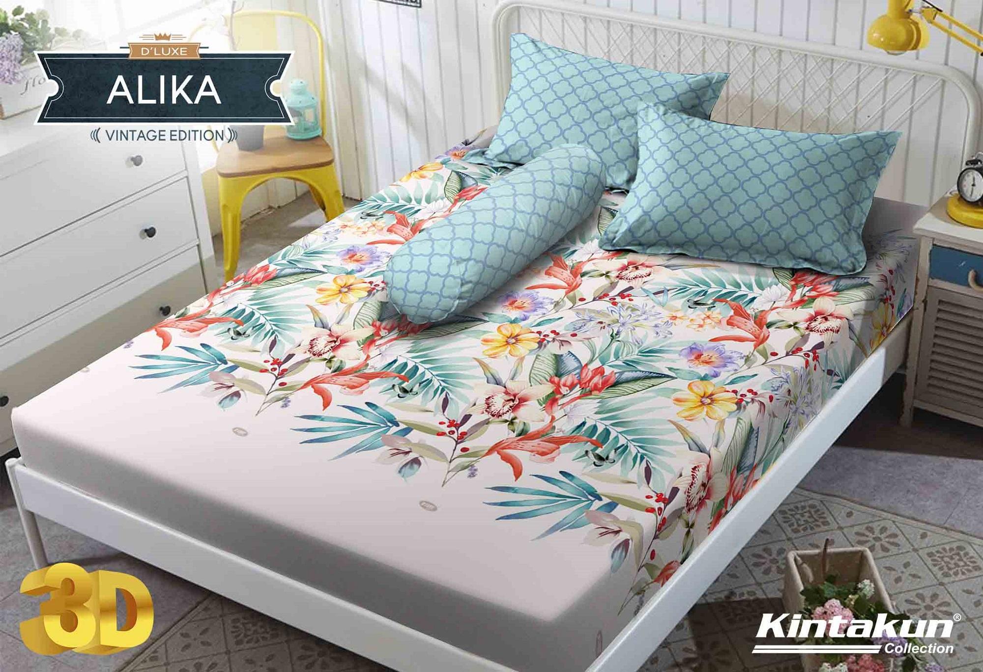 Sprei Kintakun DLuxe Single Size Vintage Edition Uk. 120x200 cm - Alika
