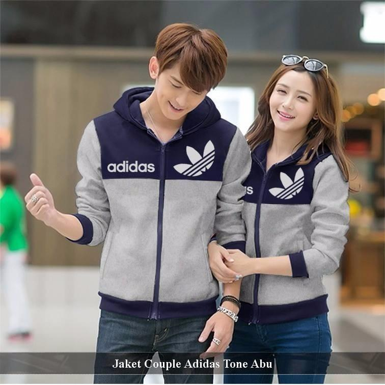 Pusat Couple Jaket - Jaket Couple Online - Jaket Couple Add Tone Abu