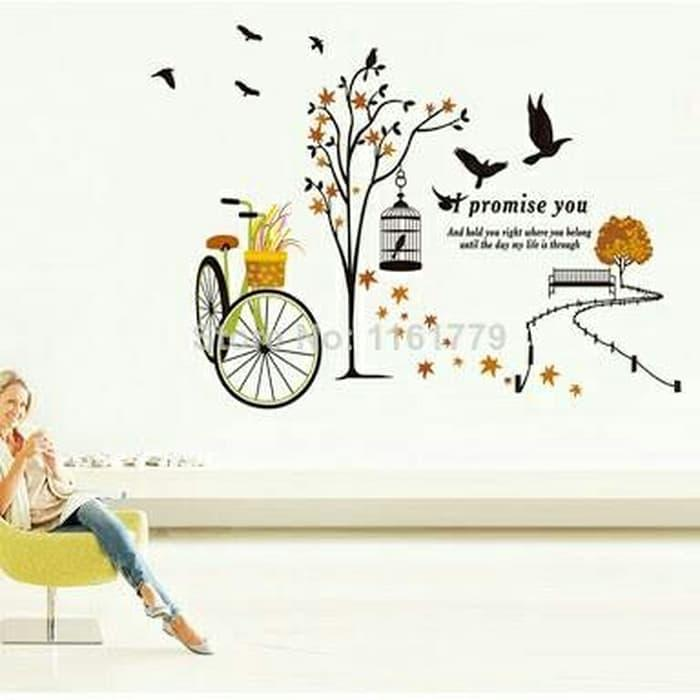 WALLSTICKER STIKER DINDING 60X90 JM7248 I PROMISE YOU