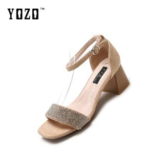 Harga preferensial YOZO Sandal Sepatu Wanita Musim Panas Tali Pergelangan  Kaki Sandal Hak Tinggi Sepatu Tumit e910b5d098