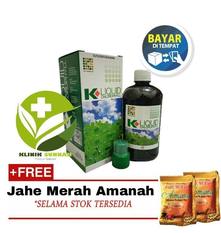 KLINIKSUNNAH K Link Klorofil - Liquid Chlorophyll 500 ml+Jahe Amanah