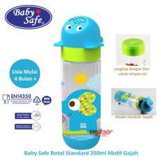 Baby Safe Botol Susu Bayi 250ml Motif ELEPHANT BLUE / Botol Susu Anak Bayi Karakter /