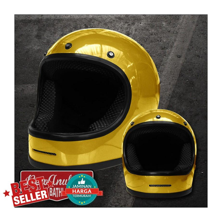 Helm Cakil Bogo like Bullit Bulit Gold Glosy Bell Star exc List Chrome