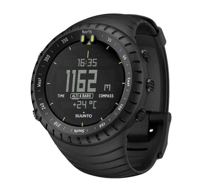 VN25 - Jam Tangan Suunto Core Sporty Outdoor Watch Digital / Sport Smart Watch - Black