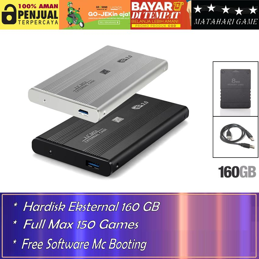 Hardisk Eksternal PS2 160GB - Support Semua SLIM Series Playstation 2 - Best Quality