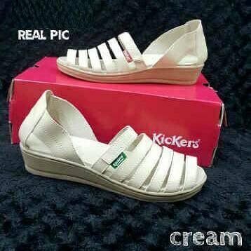 Dompet Kartu sandal sepatu wanita cream kardus/box ready Diskon