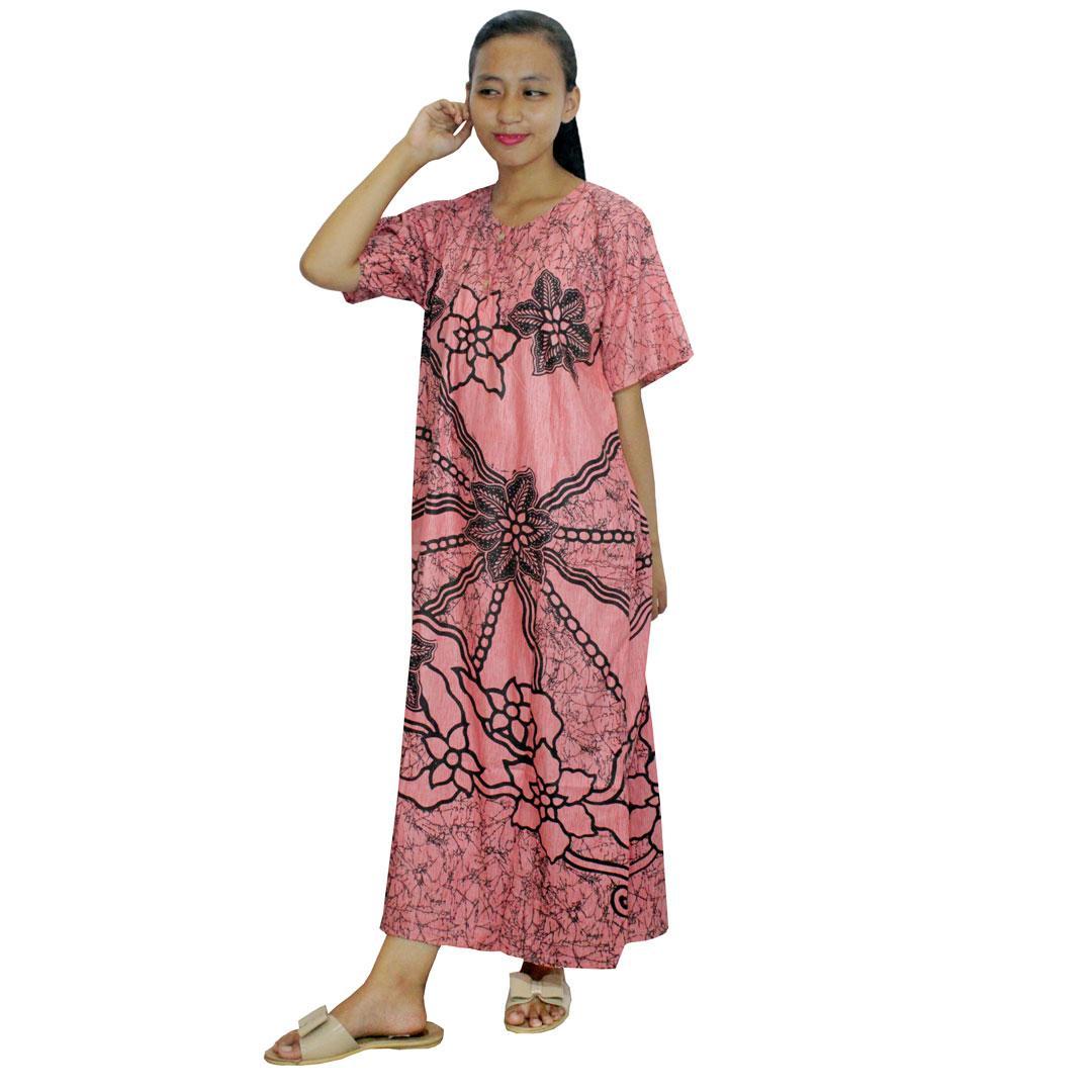Daster Batik, Daster Lengan Pendek, Baju Tidur, Piyama, Kancing, Daster Bumil, Daster Busui (DPT001-137) Batikalhadi Online