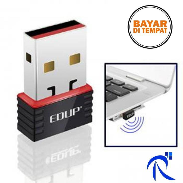 Rimas EDUP Mini Wireless 802.11N 150Mbps WIFI USB Network Card Adapter - EP-N8508 - Black/Hitam - Dongle Penjangkau Jaringan Internet Wifi Cepat Berkualitas FREE ONGKIR & Bisa COD