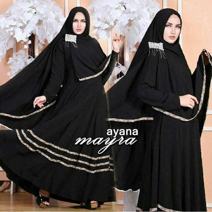 Syari Bergo Ayana Mayra Black