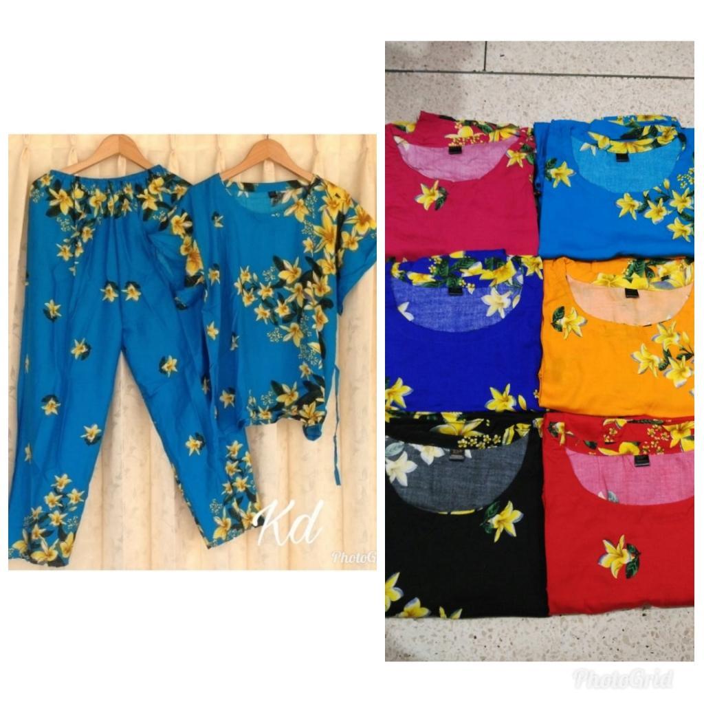 KANAYA - setelan babydoll rayon bali celana panjang baju santai baju bali murah oleh oleh khas bali