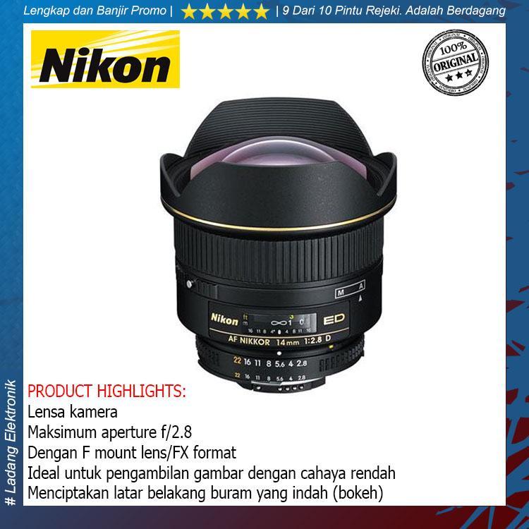 Nikon AF 14mm f-2.8D ED Lensa Kamera