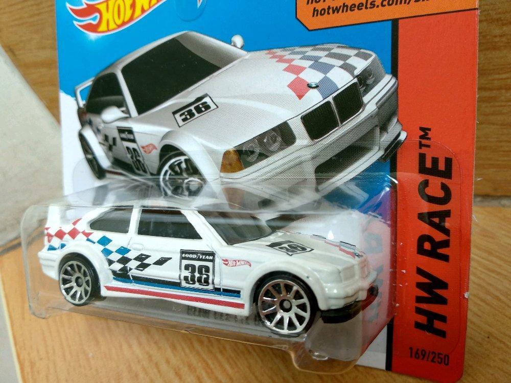 BMW M3 E36 White Racing Goodyear Hotwheels Short Card # Favorit Toys favorit_toys