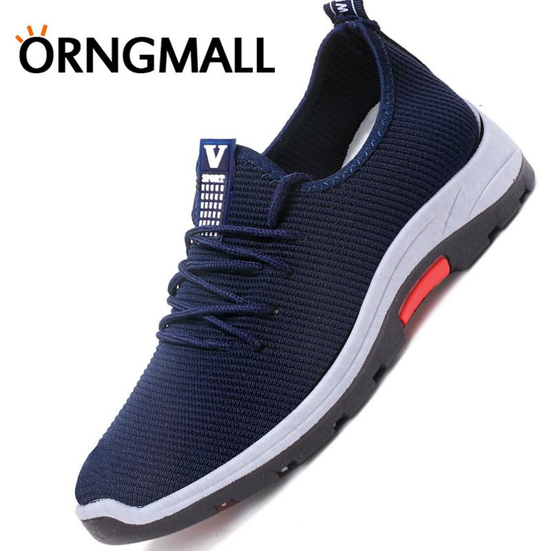 Orngmall Baru Pria Sepatu Kets Kasual Sepatu Jalan Malas Nyaman Mengemudi  Sepatu Atletik Sepatu Olahraga untuk feaf05aee2
