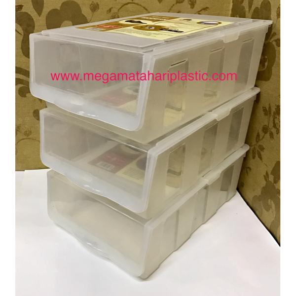 Kotak Sepatu / Tempat Sepatu / Shoe Box Plastik Transparant Unik Murah Minimalis