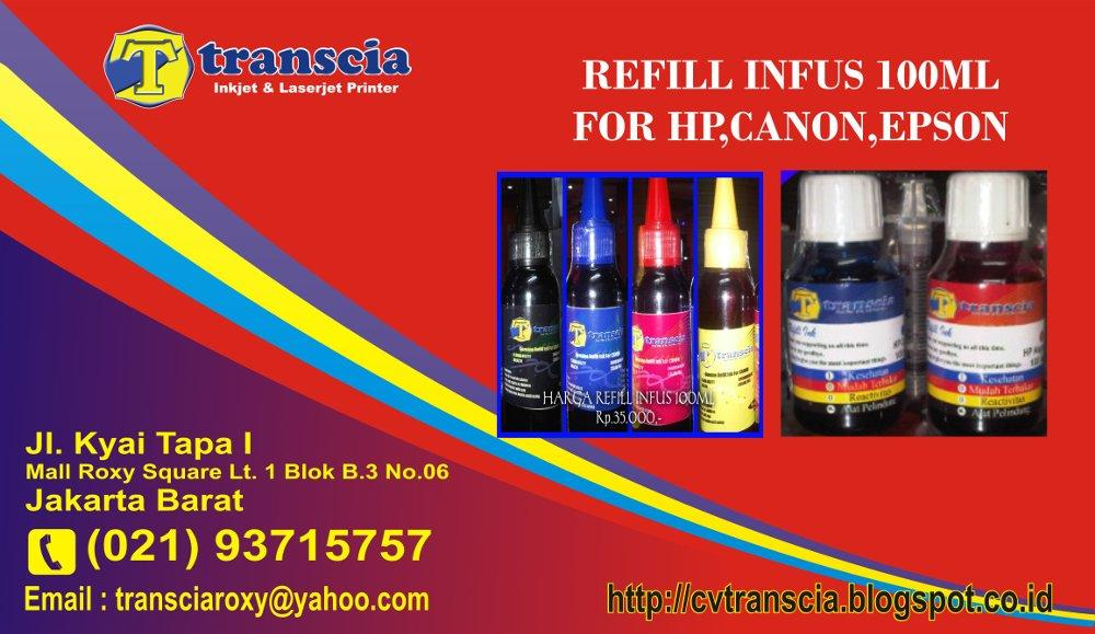 Refill Infus 100ml For Hp,Canon,Epson