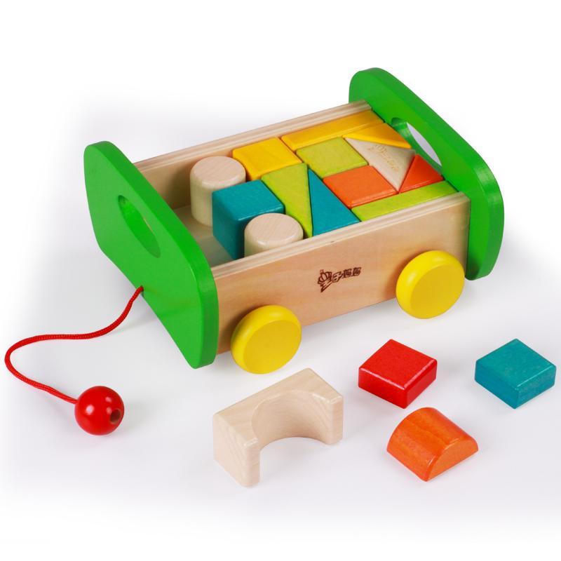 Aman Mainan Balok Kayu Berwarna-warni Mainan Balok Sewa Anak Usia Dini