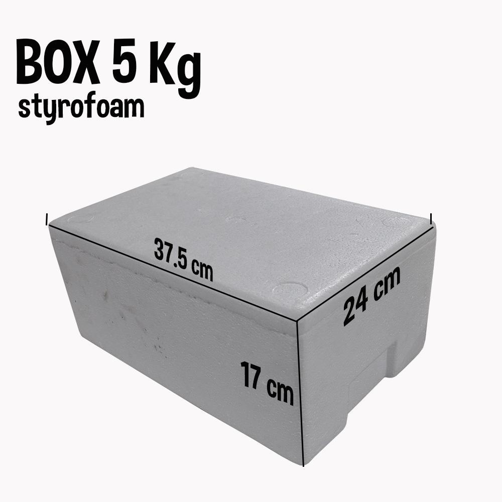 Jirifarm Box Styrofoam 5 Kg Ukuran 37.5x24x16 cm