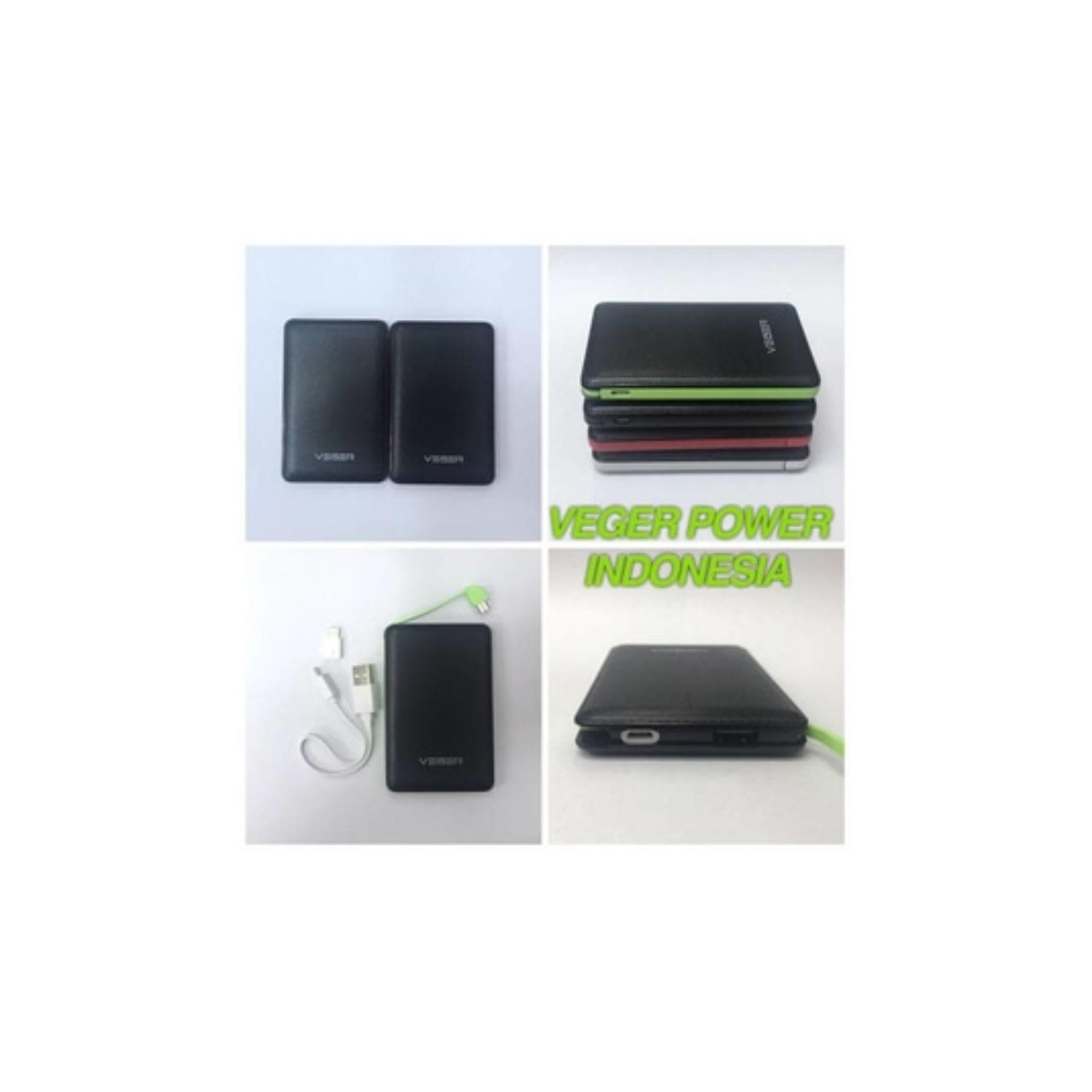 Veger V58 Power Bank Slim 12800mAh - List Hijau
