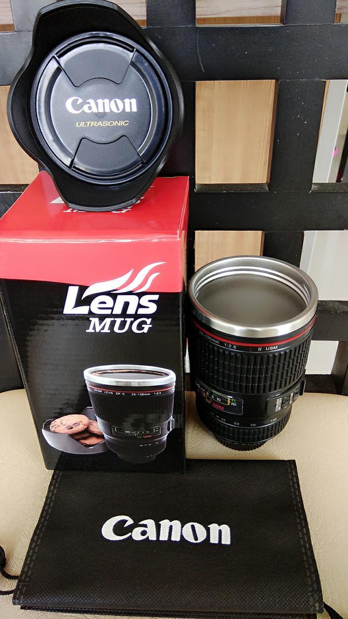 Gelas Mug Lensa Kamera CANON Zoom EF-S 28-135mm ESF B292