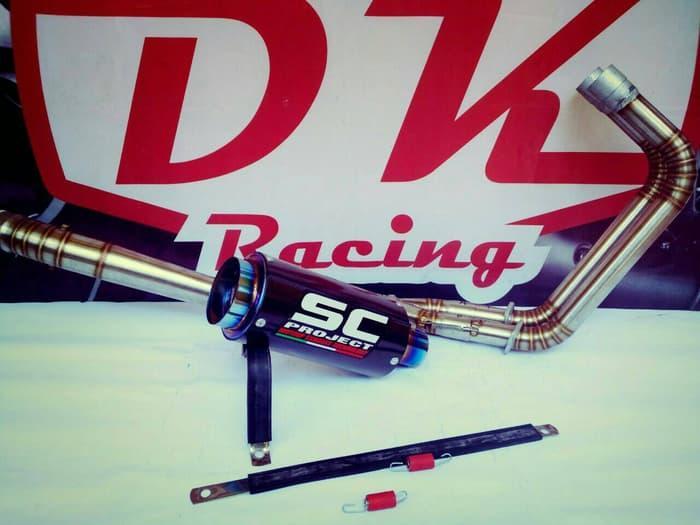 Knalpot Racing Kawasaki Z250 Sc Carbon Series By Dk Racing Bekasi.