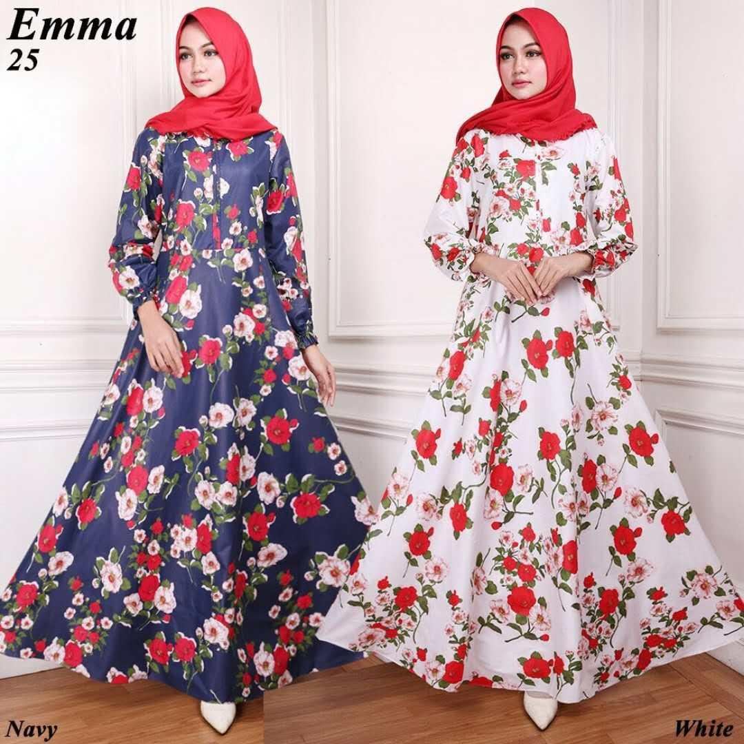 Buy Sell Cheapest Maxi Emma Navy Best Quality Product Deals Yao Gamis Syari 25