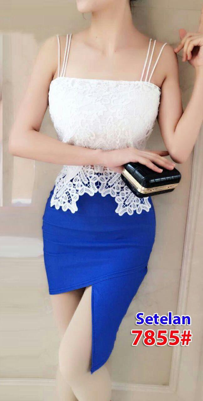 7855# baju pesta import  / setelan wanita / setelan pesta / stelan fashion iport / atasabawah rok
