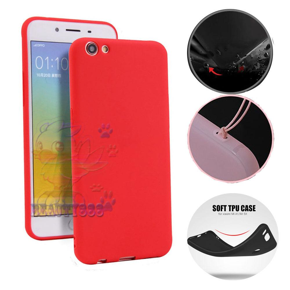 Lize Case Oppo A71 Rubber Silicone Anti Glare Skin Back Case / Silikon Oppo A71 / Jelly Case / Ultrathin / Soft Case Slim Red Matte Oppo A71 / Casing Hp / Baby Skin Case - Merah / Red