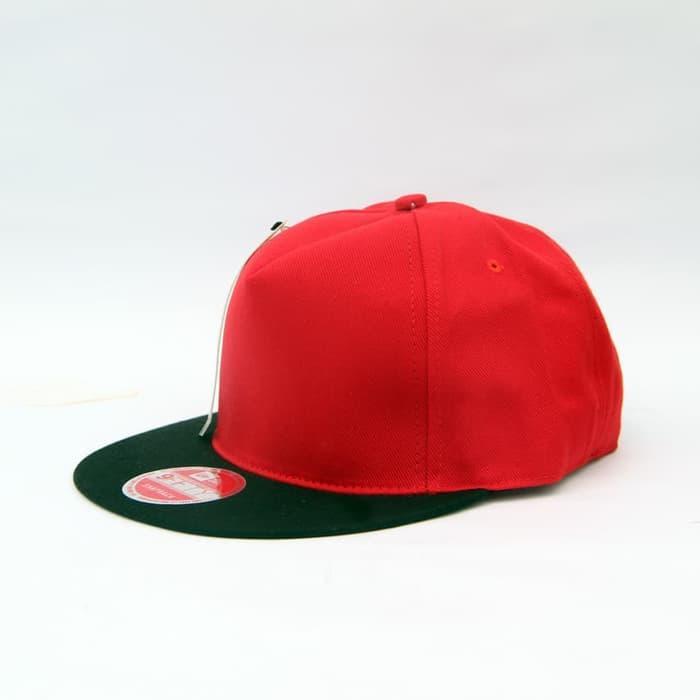 Topi Snapback Premium Polos Original / kombinasi / Topi  Murah / Topi bagus / Topi pria / Topi Kekinian / Topi modern / Fashion pria / Topi Polos