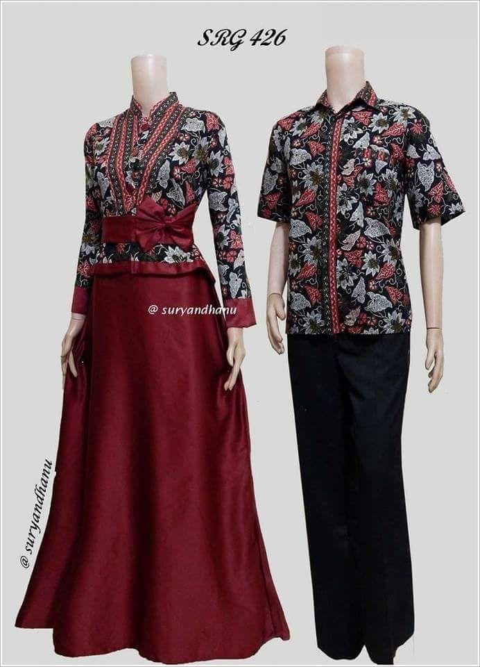 Baju Muslim Wanita Terbaru 2018   Couple Batik   Batik Sarimbit   Batik  Kondangan - SRG ac29e2d32b