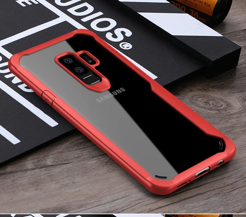 IPAKY Hybrid HD Acrylic Case for Samsung S9 Plus