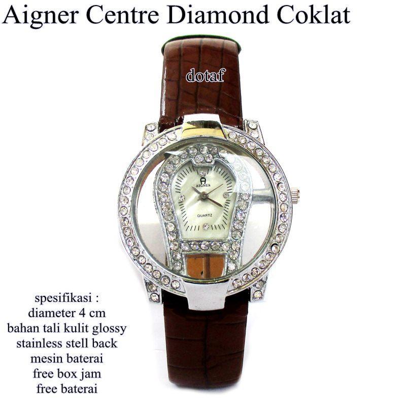 jam tangan wanita kulit glossy agner center kw 1 full set