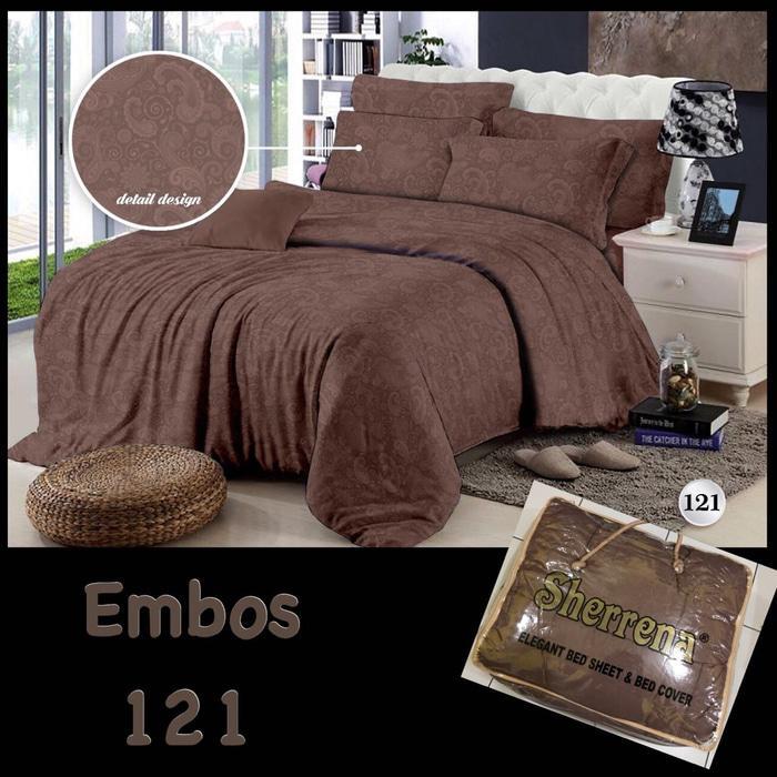 Ellenov Sprei Set Motif Emboss Warna putih. Source · Aneka Warna Bedcover PolosIDR362750. Rp