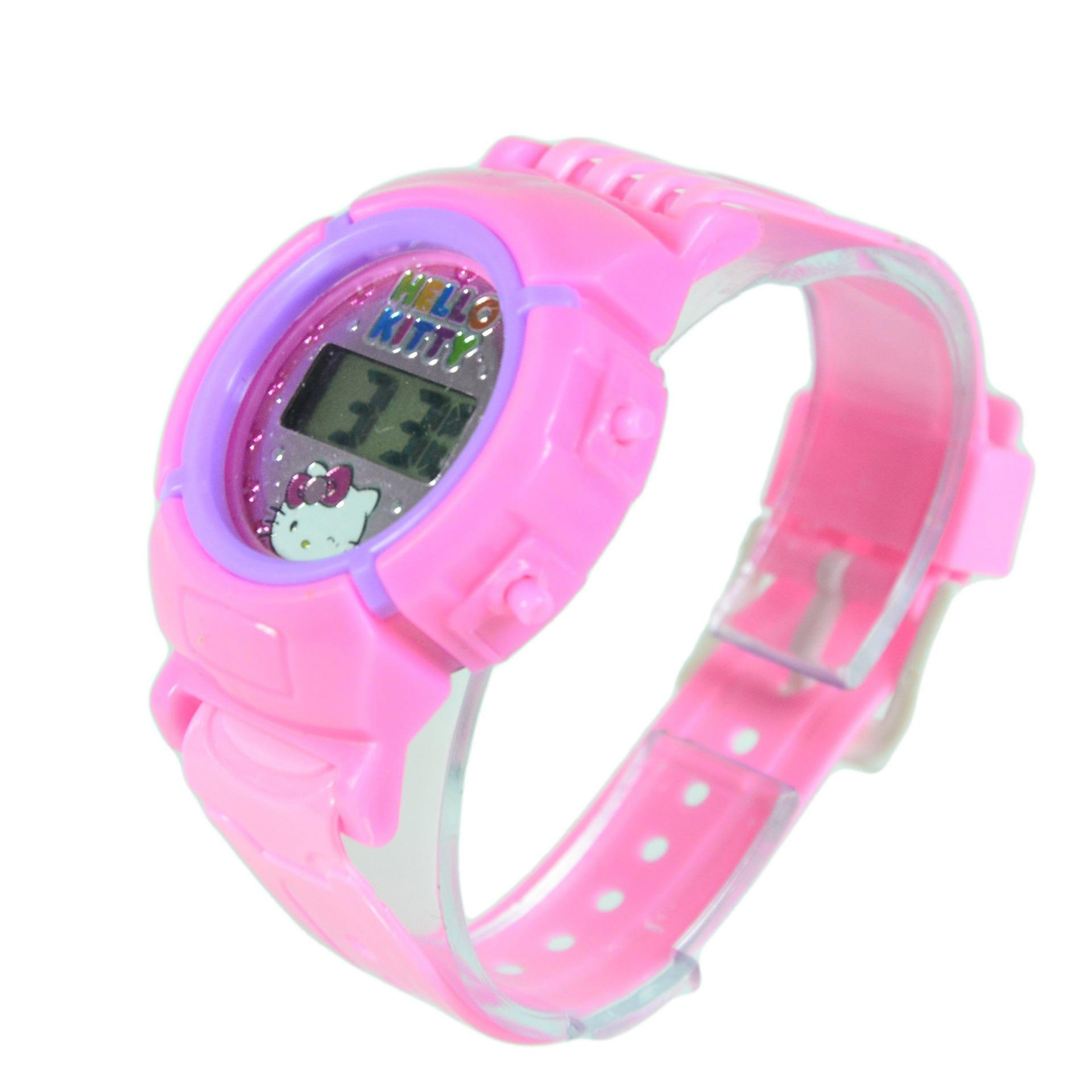 DNB Collection Jam Tangan Anak Sporty Oval Hello Kitty - Pink Muda