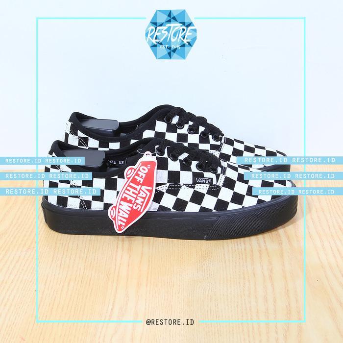 PROMO!!! Sepatu Vans Old Skull / Checker Board / Catur (Dt) / Black / Hitam - Ukuran, 36