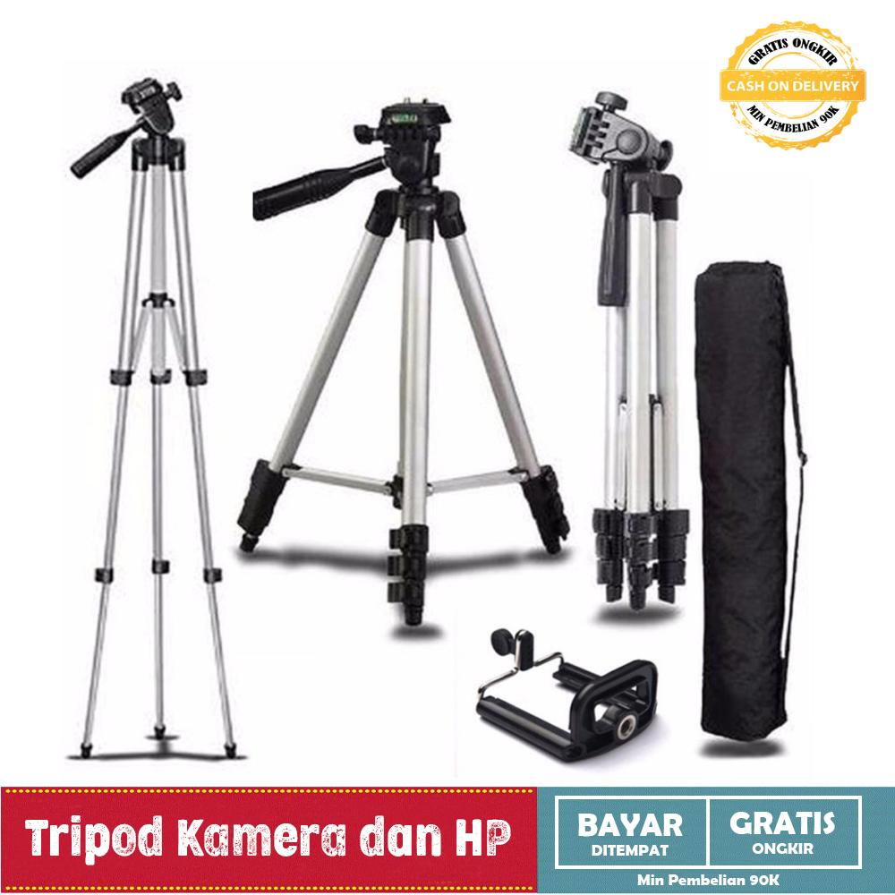 Tripod Weifeng WT-3110-A - For Camera & Handphone - Silver - Free Holder U And Bag