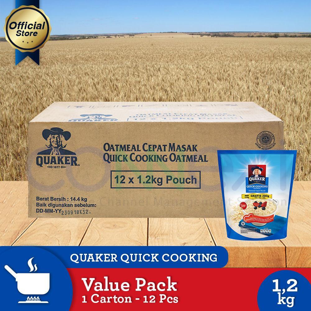 Jual Quaker Quick Cooking Oatmeal Value Pack 12kg 1 Carton 12 Pcs