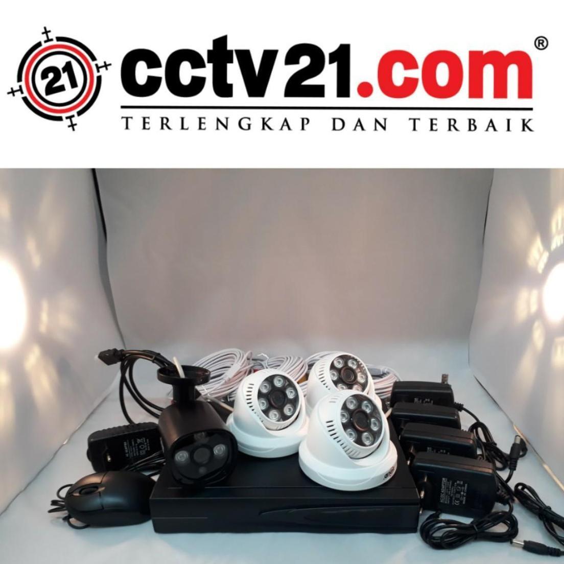 PROMO PAKET CCTV CAMERA 3 INDOOR - 1 OUTDOOR 960P - DVR 4 CH