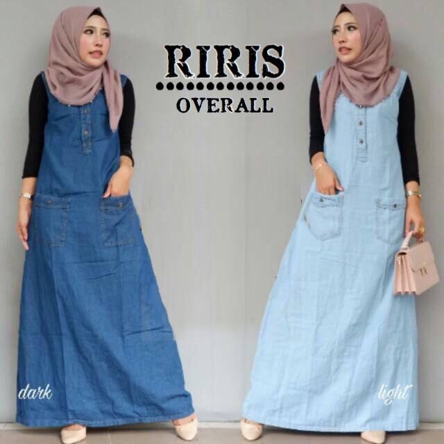 DAMAI FASHION JAKARTA - baju overall (TANPA INNER) wanita RIRIS 2 warna - konveksi murah tanah aban