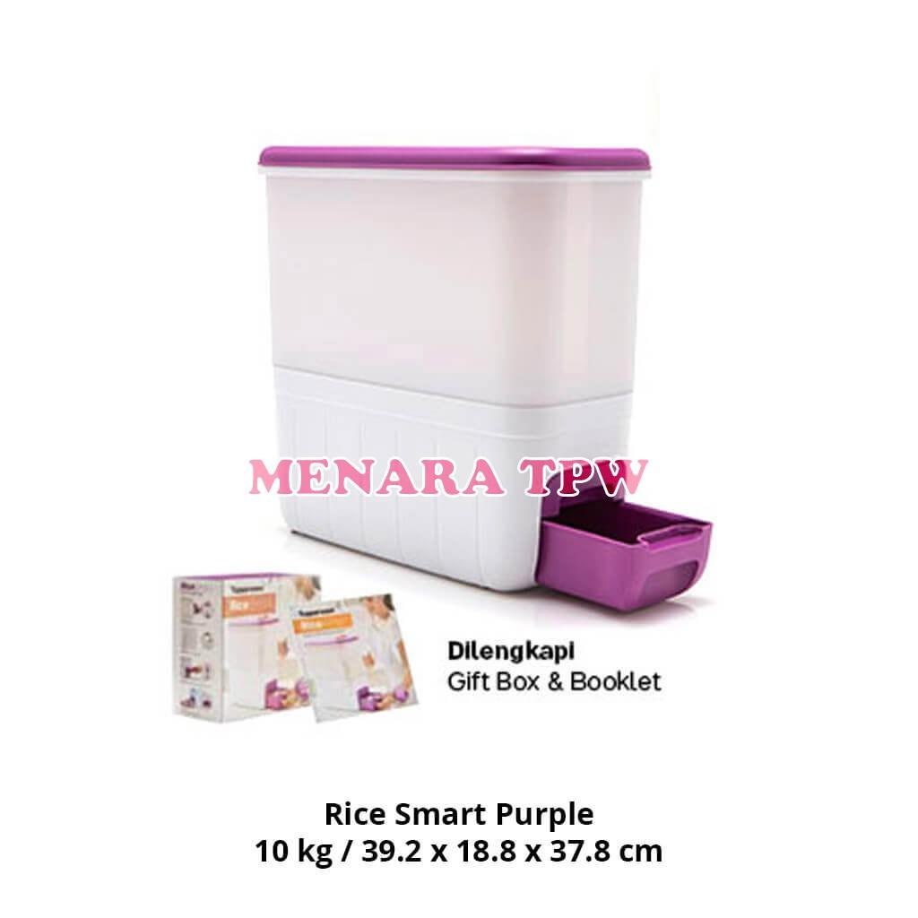 Tupperware House 1 Large Summer Fresh 4pcs 18l Multi Colour Rice Smart Purple Dispenser Beras