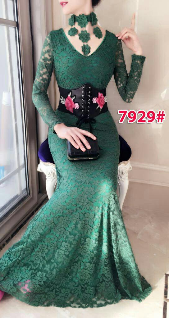 7929# baju pesta import  / gaun pesta import / baju pesta  brokat / longdress fashion import / gaunpanjang